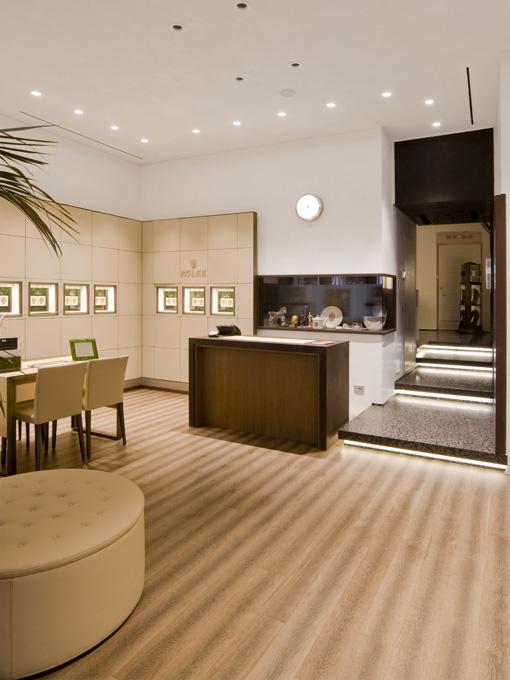Negozio Rolex Bulgarelli pavimenti in legno